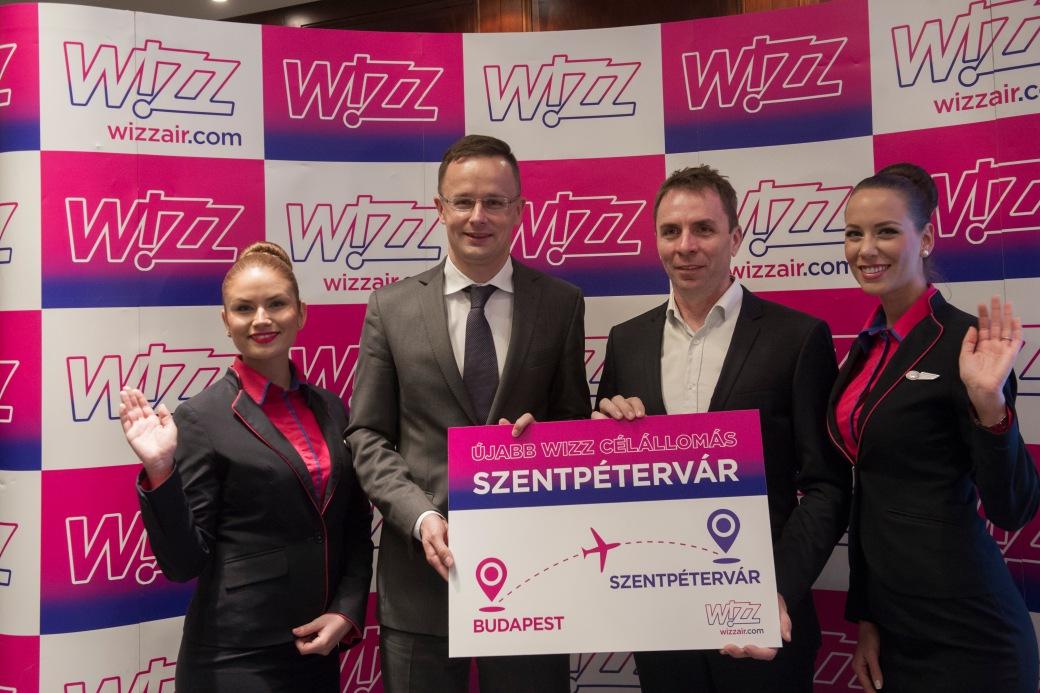 Wizz Air új szentpétervári járatának bejelentése