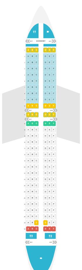 Aegean Seat Plan